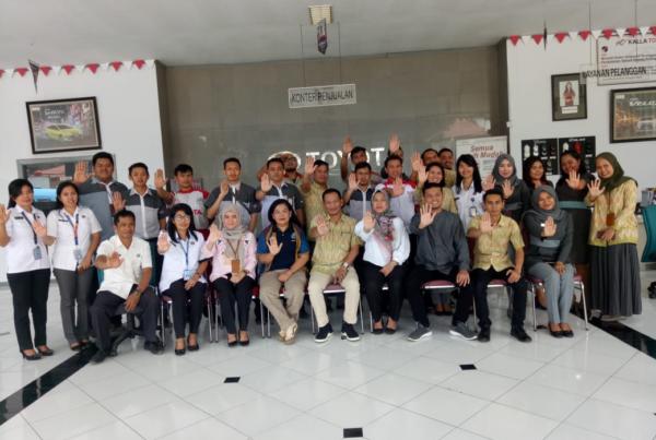 BNNK Tana Toraja Tes Urine Karyawan PT Toyota Kalla Rantepao