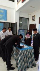 Pelantikan Dua Pejabat Fungsional Personil BNNK Tana Toraja